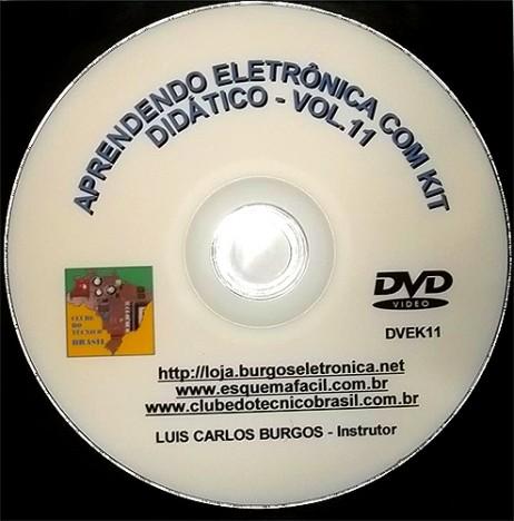 CURSO APRENDENDO ELETRÔNICA NA PRÁTICA COM KIT DIDÁTICO - VOLUME 11 - DVEK11 - EDIÇÃO MENSAL