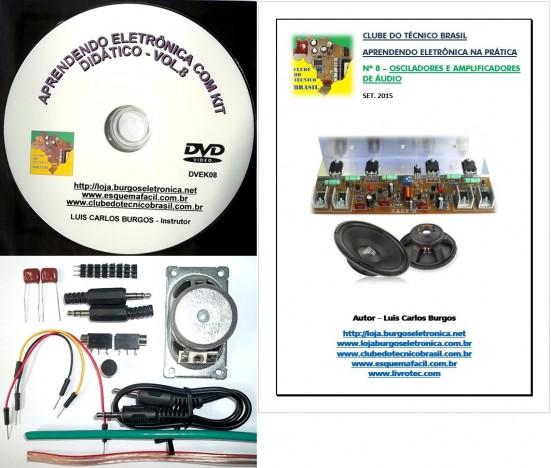CURSO APRENDENDO ELETRÔNICA NA PRÁTICA COM KIT DIDÁTICO - VOLUME 8 - DVEK08 - EDIÇÃO MENSAL