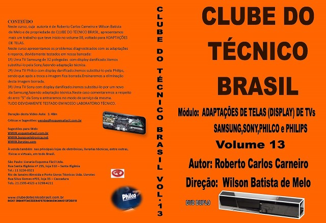 CURSO CTB13 - ADAPTAÇÕES DE TELAS DE TVs SAMSUNG, SONY, PHILCO E PHILIPS