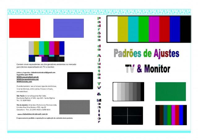 DVD COM PADRÕES DE BARRAS E AJUSTES PARA TELEVISORES E MONITORES DE COMPUTADOR