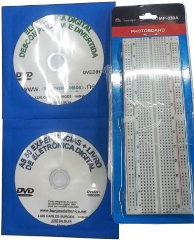 ELETRÔNICA DIGITAL DESCOMPLICADA E DIVERTIDA EM VÍDEO AULA COM KIT PARA A PRÁTICA - DVED01