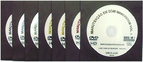 MANUTENÇÃO DE SOM MINISYSTEM EM VÍDEO AULA - DVS01 A 07