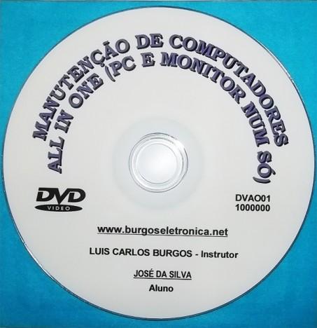 """MANUTENÇÃO EM COMPUTADORES """"ALL IN ONE"""" (MONITOR E PC NUM SÓ) EM VÍDEO AULA - DVAO01"""