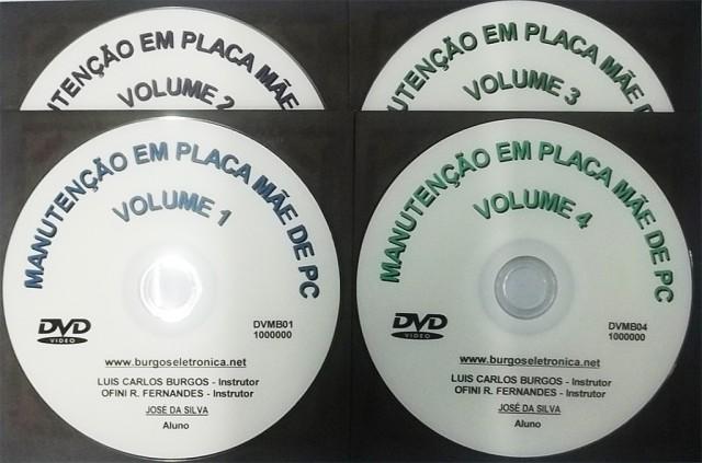 MANUTENÇÃO EM PLACA MÃE DE PC EM VÍDEO AULA - DVMB01 AO 04