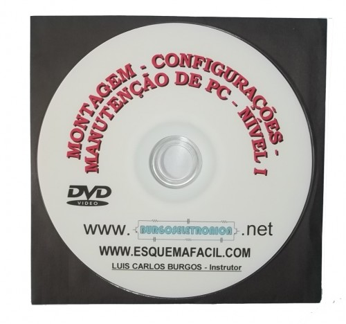 MONTAGEM, CONFIGURAÇÕES E MANUTENÇÃO DE COMPUTADORES NÍVEL I EM VÍDEO AULA – DVMM01