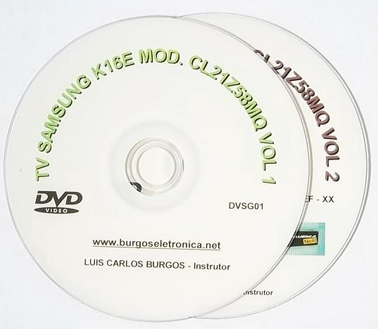 TV SAMSUNG CHASSI K16E MODELO CL21Z58MQ SLIM - DVSG01 E 02