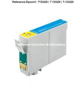 Cartucho para Epson T1332 - T25 | TX125 | 133 | 135 | 320 | 430 CIANO Compatível - 11,5ml