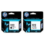HP 122 PRETO + HP 122 COLORIDO  KIT CARTUCHO ORIGINAL