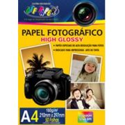 Papel Fotogr�fico High Glossy c/ 50 folhas 180g