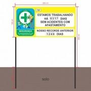 Placa CIPA Externa 200x100 cm com Suporte - Clace 1 UN