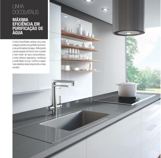 Misturador Monocomando Para Cozinha Com Purificador De Água DocolVitalis - Docol