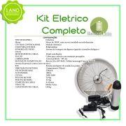 Kit Elétrico 350 W Bicicleta - Bateria Litio Para Freio Disco