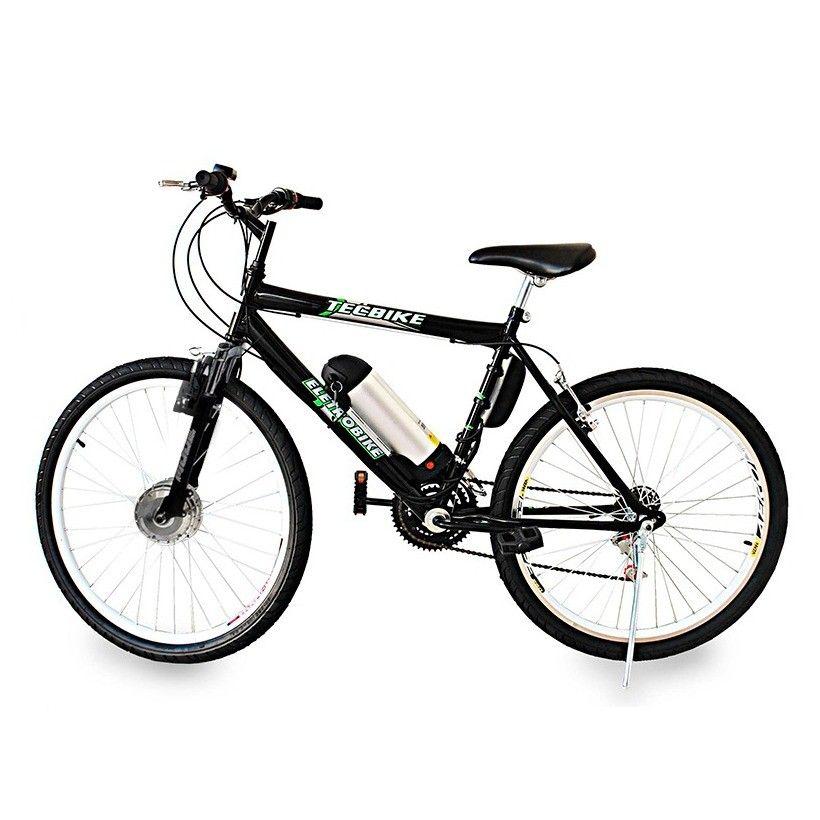 Bike Elétrica Aro 26 BAT. de LITIO Tec-City v2 - 500w