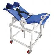 Cadeira de banho e higiênica em PVC para deficientes e excepcionais - 320CLE