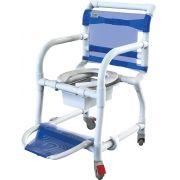 Cadeira de banho e higiênica em pvc com braços escamoteáveis - 310CL