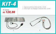 Kit 4 - Estetoscópio tipo Rappaport Medicate+ Esfigmomanômetro Medicate