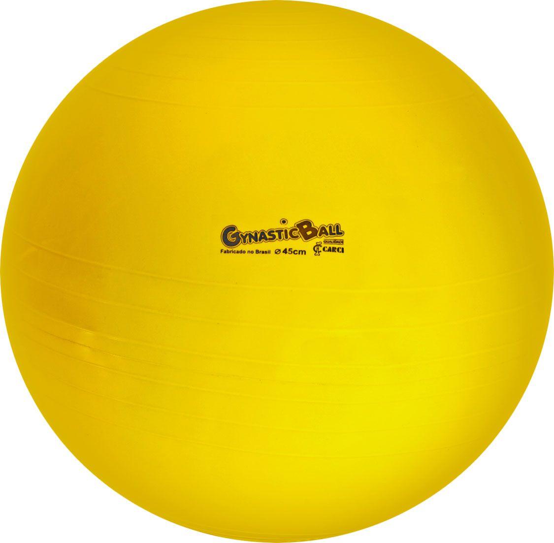 Bola suíça para pilates 45cm Gynastic Ball - amarela - BL.01.45