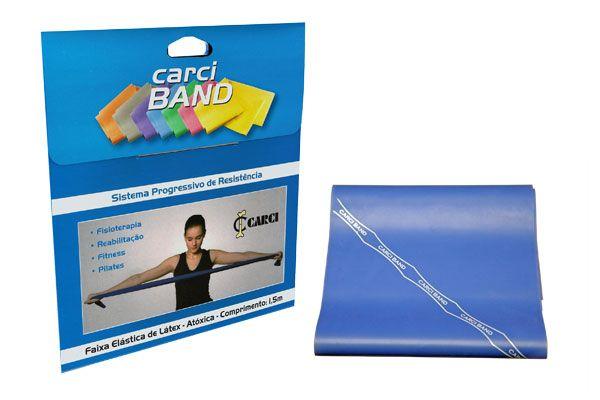 Carci Band (nº4) - Faixa elástica para exercícios  (azul / média forte) - RB.01.40505