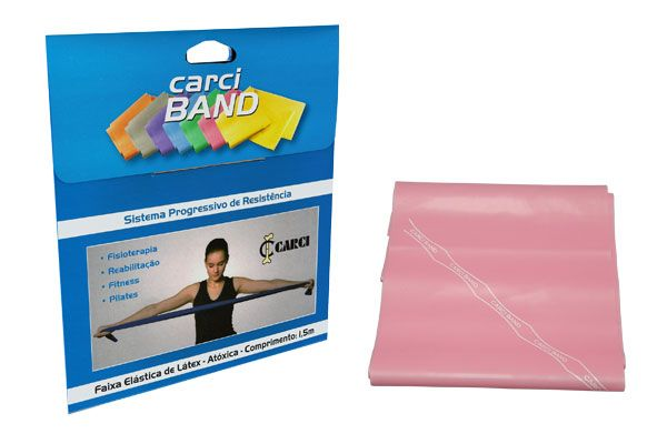 Carci Band - Faixa elástica para exercícios rosa leve - RB.01.50017