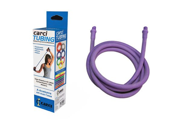 Carci Tubing - Tubo elástico para exercícios resistência forte roxo - RT.01.5050