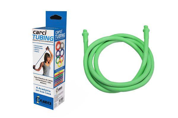 Carci Tubing - Tubo elástico para exercícios resistência média verde - RT.01.5030