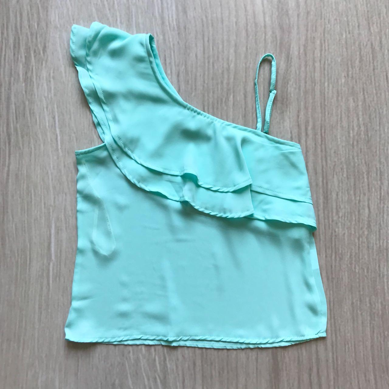 Blusa Assimétrica Turquesa
