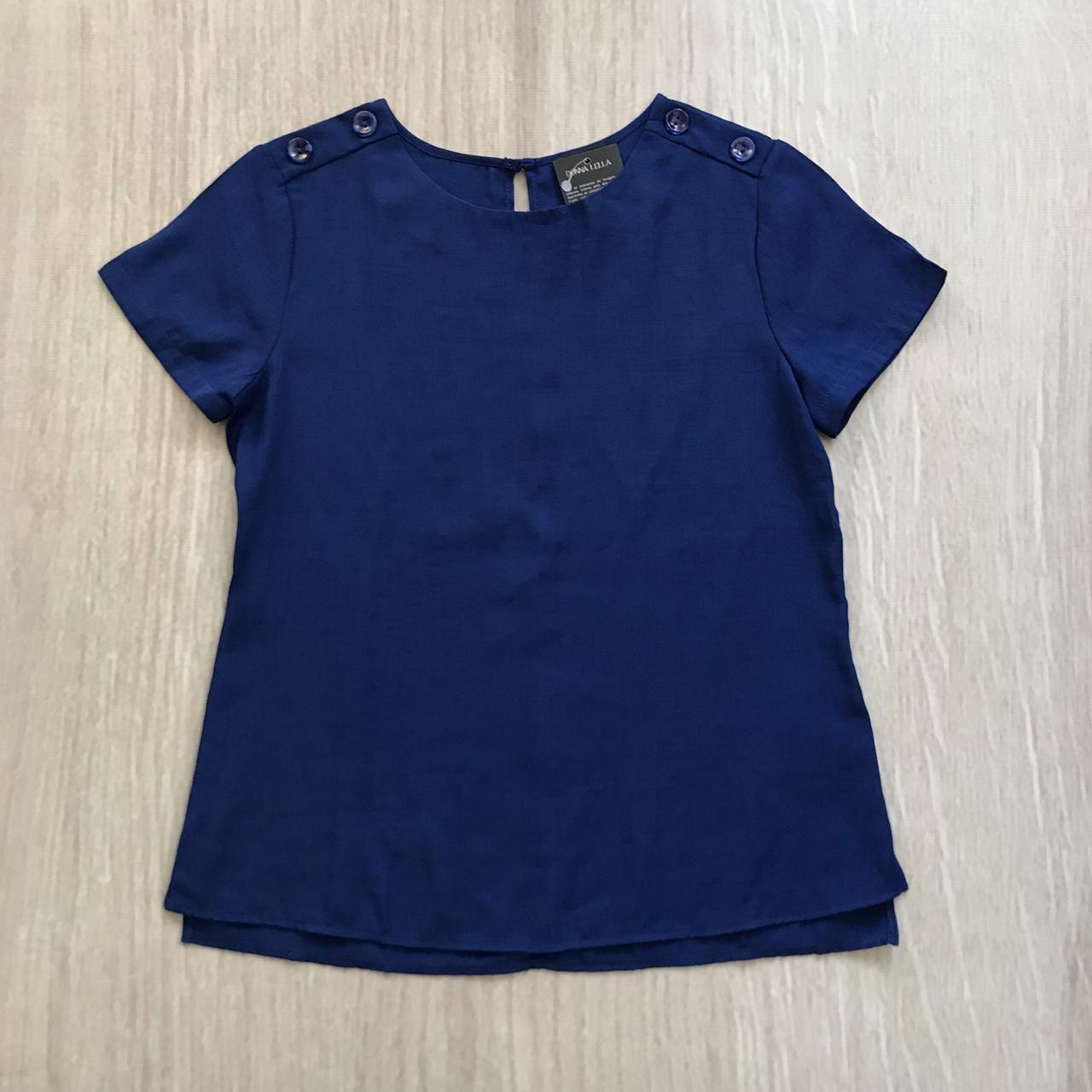 Blusa Básica Botões Azul