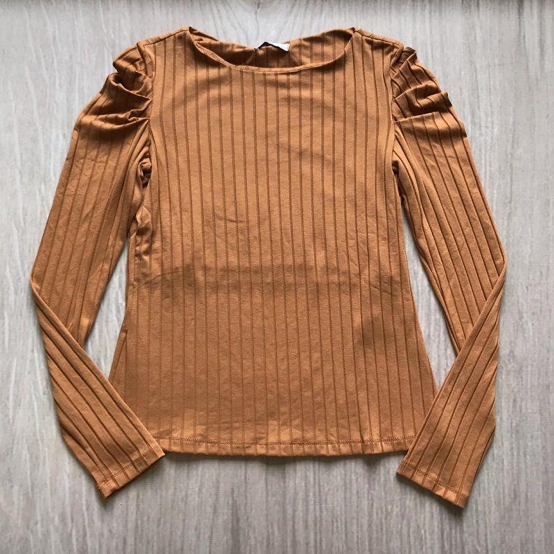 Blusa Canelada Caramelo