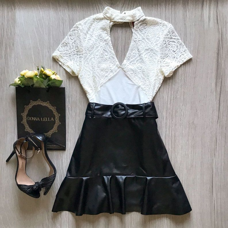 Blusa Chocker Renda Offwhite