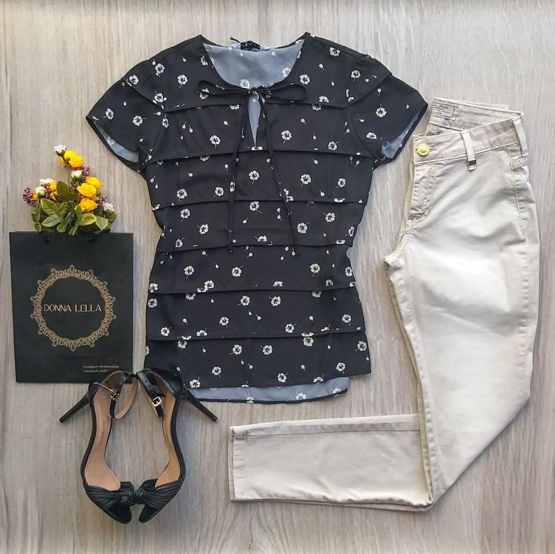 Blusa Crepe Floral