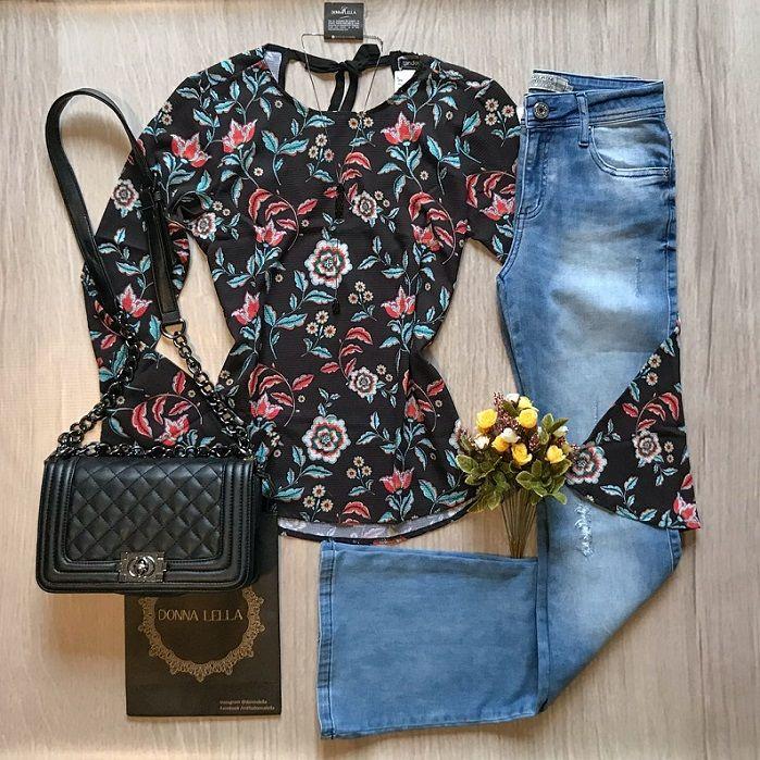 Blusa Crepe Floral Heloisa