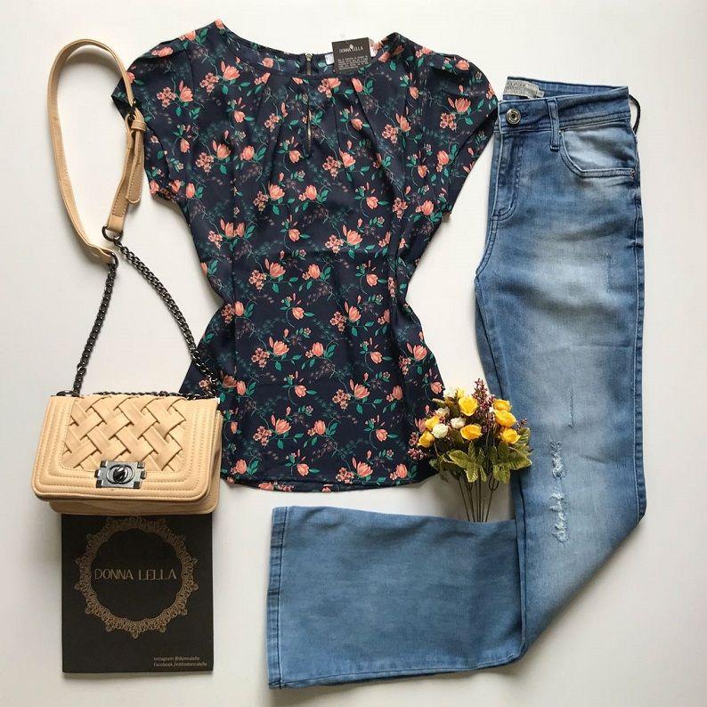 Blusa Crepe Gota Floral
