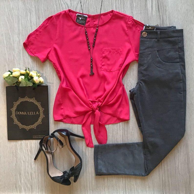 Blusa Crepe Nó Pink