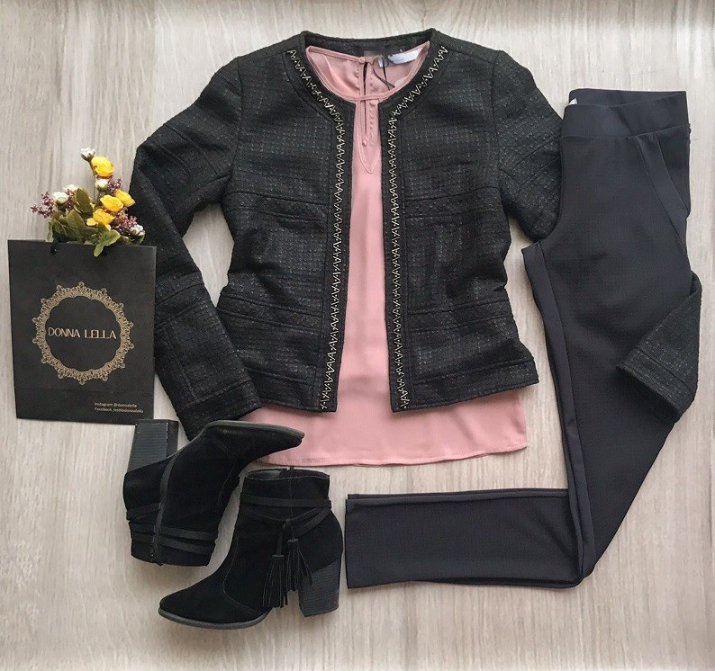 Blusa Crepe Rosê