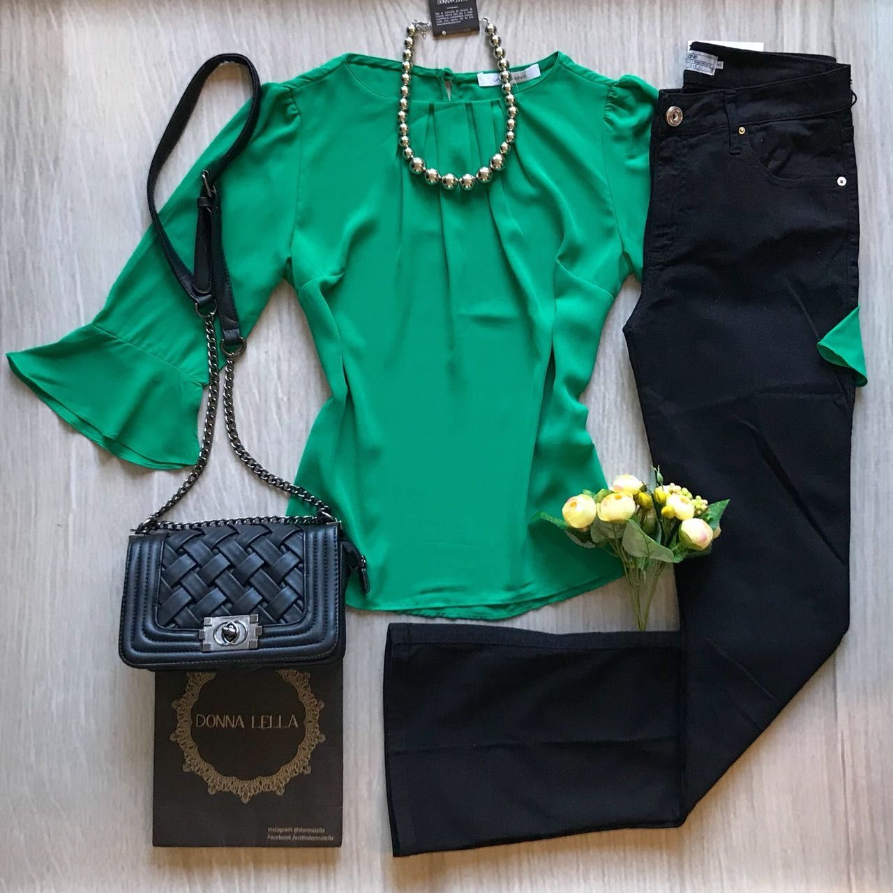 Blusa Crepe Verde