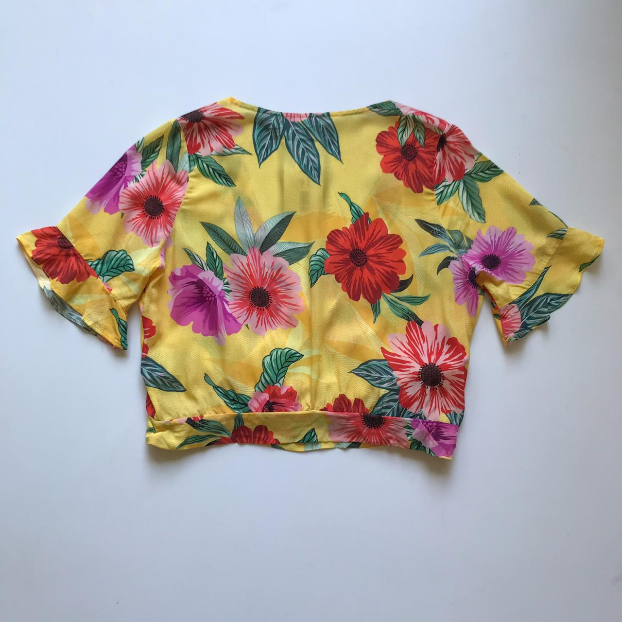 Blusa Cropped Floral