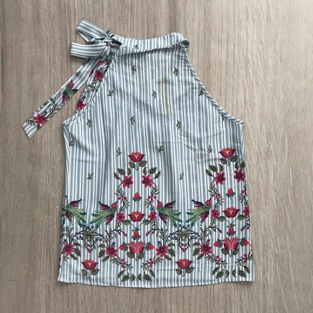 Blusa Estampada Detalhe Laço