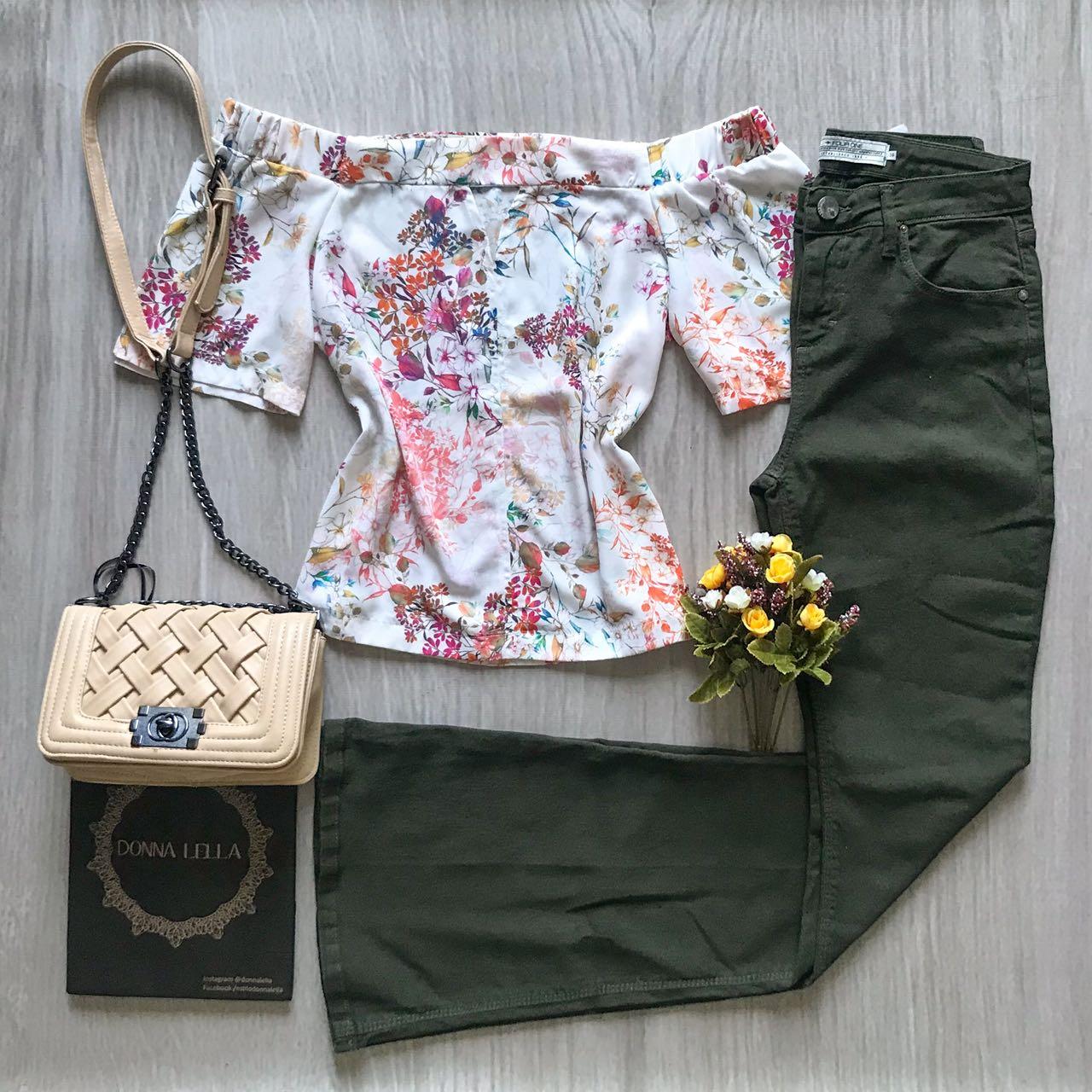Blusa Floral Offshoulder
