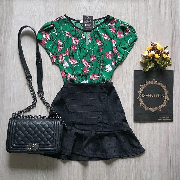 Blusa Floral Verde