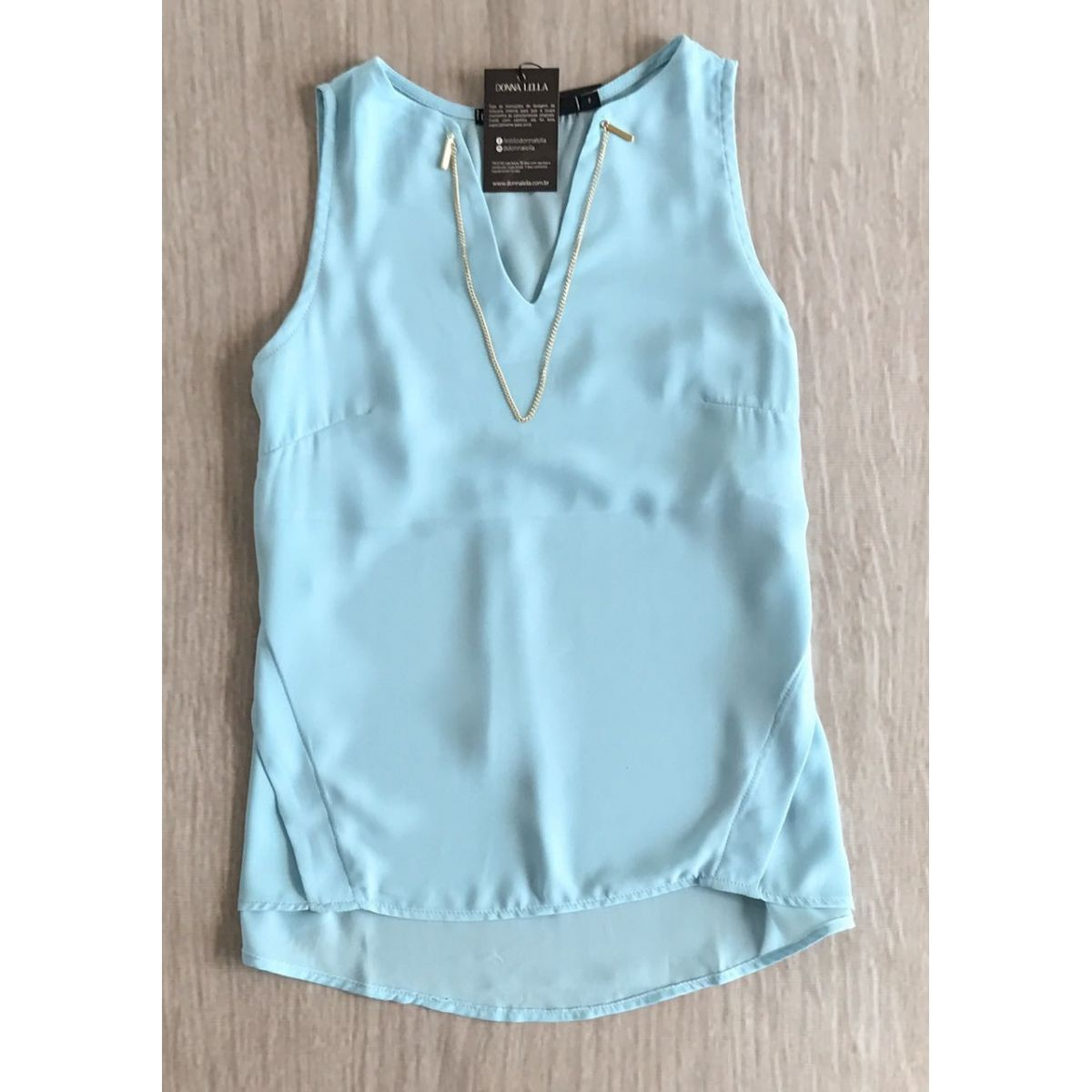 Blusa Martina Crepe Azul