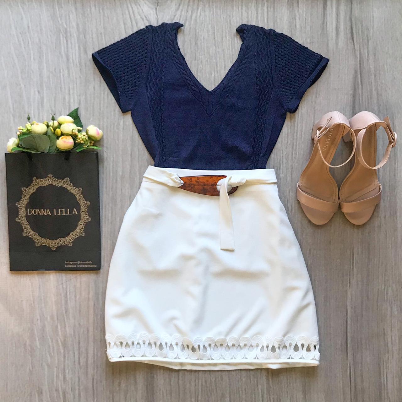 Blusa Modal Marinho
