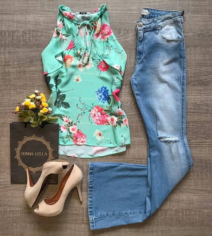 Blusa Nice Estampa Floral