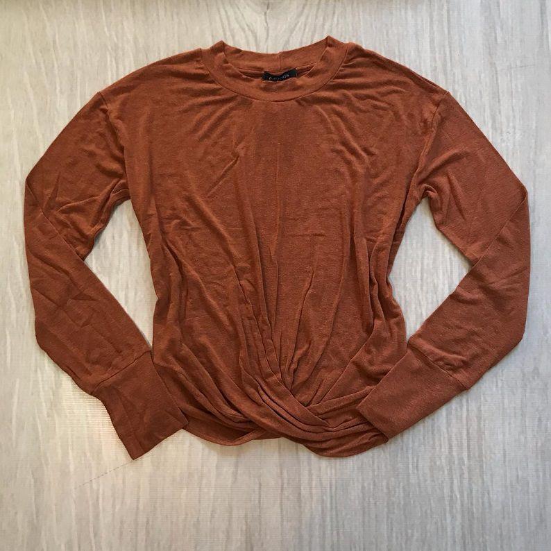 Blusa Terracota Detalhe Torcido