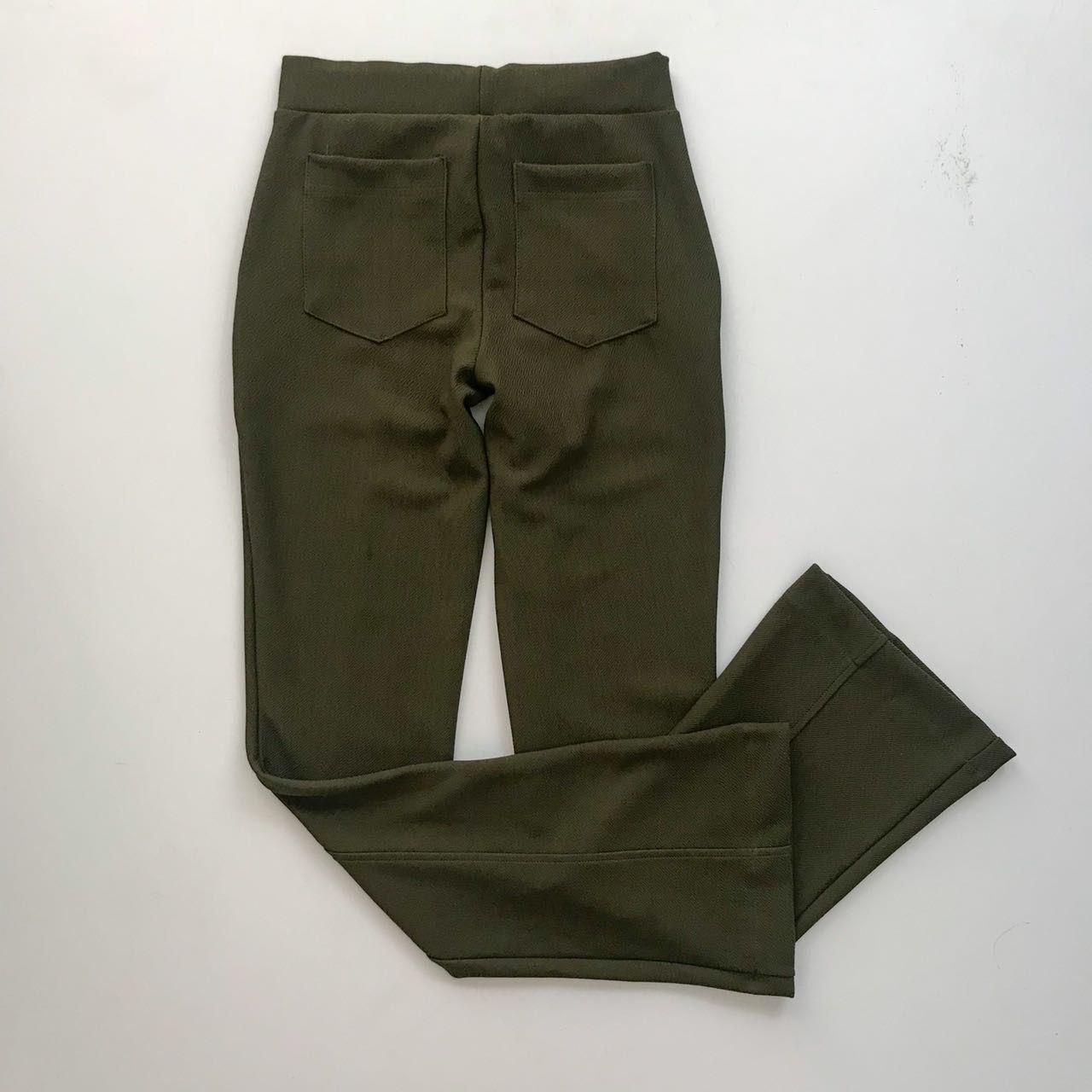 Calça Flare Verde Militar