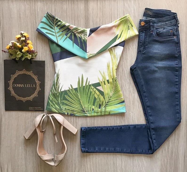 Calça Jeans Skinny Malha