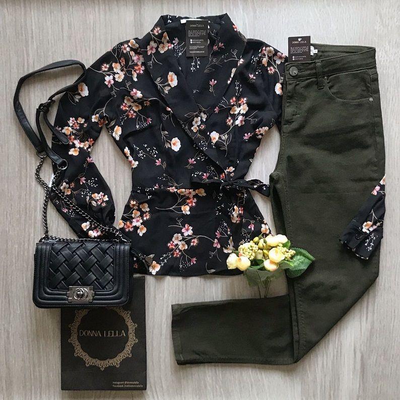 Calça Jeans Skinny Verde Militar