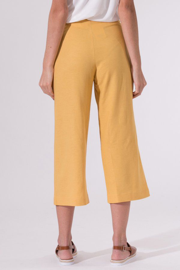 Calça Pantacourt Amarela