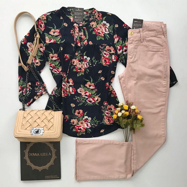 Camisa Viscose Floral