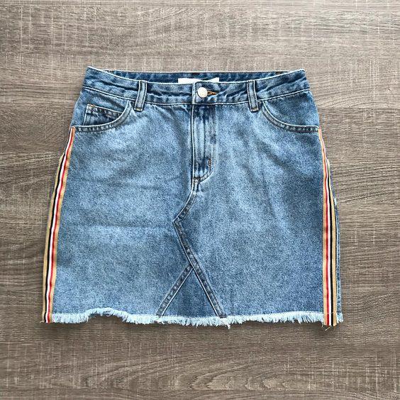 Saia Jeans Listra Lateral