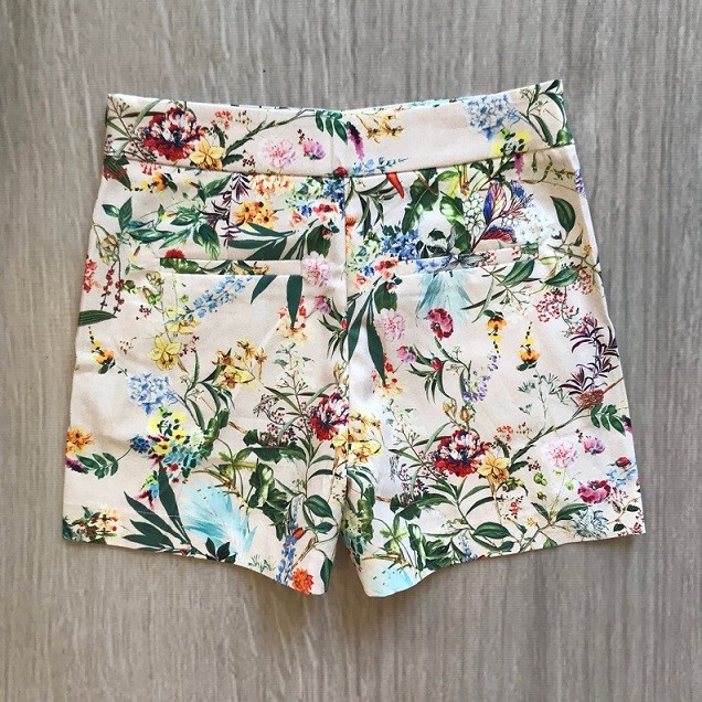 Shorts Cartagena Floral Nude
